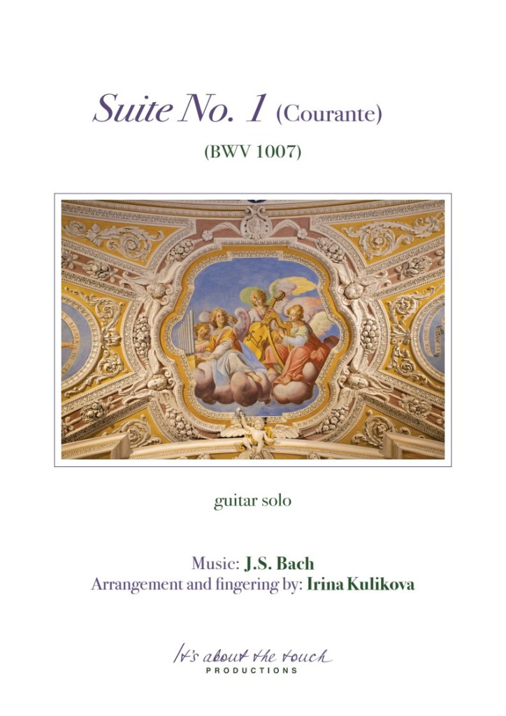 Bach Suite No. 1 Courante score cover
