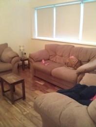 Wohnzimmer mittig