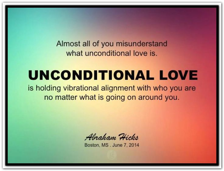 what does unconditional love mean to you