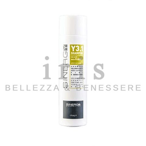 Sinergy Y3.1 - Shampoo per capelli fini e senza tono