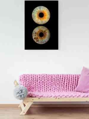 Koppel Iris fotografie Artwork Dibond Glans
