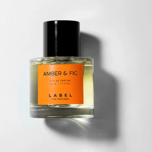 amber and fig label