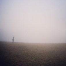 Wanderer im Nebel Einsamkeit