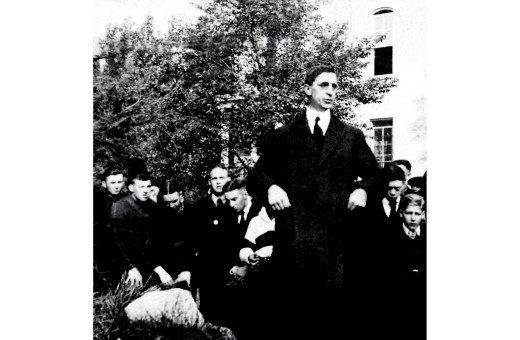 De Valera at the University of Notre Dame in October 1919.