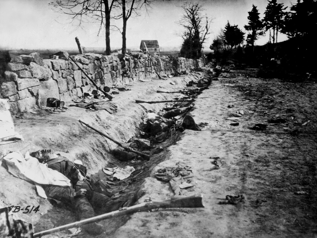 Some of the dead of the American Civil War (Library of Congress)