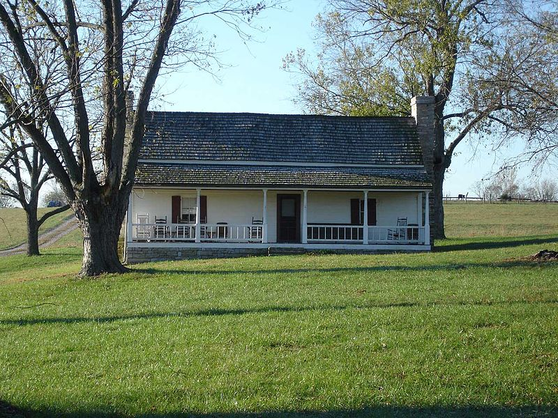The Squire Bottom House, Perryville. The 5th Confederate and 10th Ohio were engaged near here (Photo: Hal Jespersen)