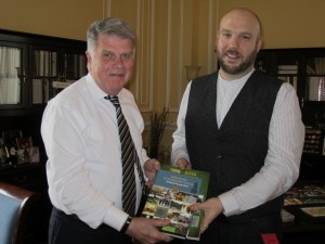 Presenting Archivist of the United States Mr. David Ferriero with a copy of 'The Heritage Centenary Sites of Rebel Co. Cork'