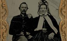 The image of the Irish Brigade soldier and his wife (Joe Maghe Collection)