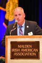 Robert Sweetland, president, speaks at the Irish American Police Officers Association Annual Awards Dinner held at The Malden Irish American Club in Malden on Saturday, May 4, 2019. Photography by David Sokol