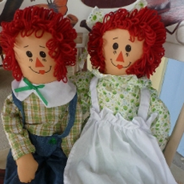 Collectible Irish Raggedy Ann and Andy - $40.00
