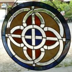 Celtic Pathways Stained Glass Window - $180.00