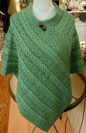 Carraig Donn Ladies' Poncho in Irish Green - $95.00