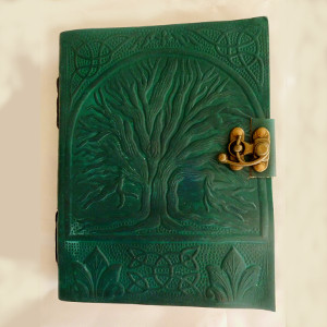 Green Tree of Life Leather-Bound Parchment Journal - $28.00
