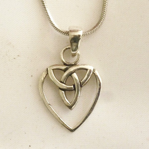 Celtic Sterling Silver Interwoven Heart/Trinity Necklace - $58.75
