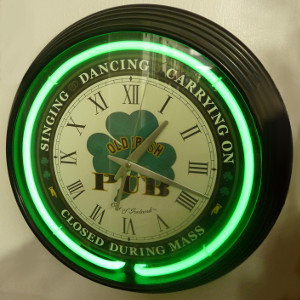 The Neon Irish Pub Clock...Must Have! - $68.75