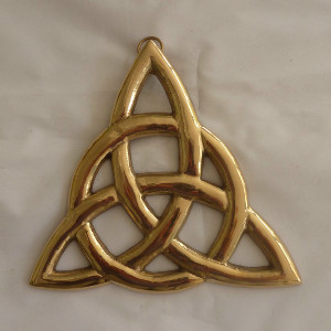 Solid Brass Trinity Knot Wallhanger by Liffey Artefacts - $35.00