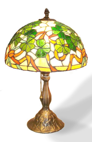 The Magnificent Shamrock Stained Glass Lamp - $190.00