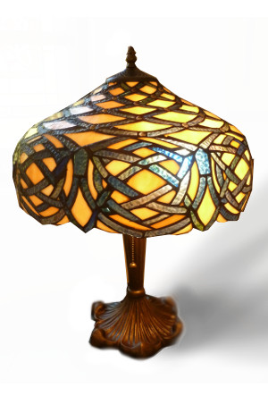 Celtic Tiffany Jeweled Stained Glass Lamp - Sensational! - $300.00