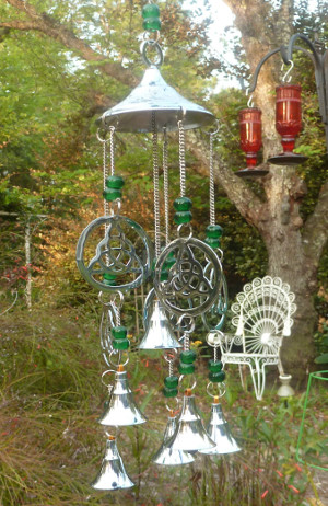 SWEET SOUND: Stainless Steel Trinity Knot Wind Chime - $27.75