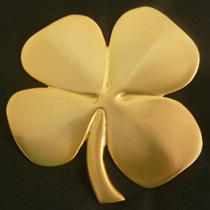 24 K Gold Plated Four-Leaf Clover With Irish Blessing - $42.00