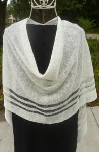 4-Seasons White Poncho, 100% Irish Linen, Authentic Irish - $68.50