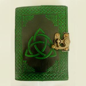 Triquetra Two-Tone Leather-Bound Parchment Journal - $38.00