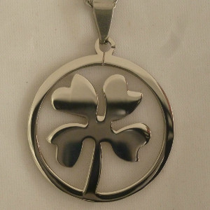 LOVE IT! Heart and Flowers Irish Stainless Steel Necklace - $21.00