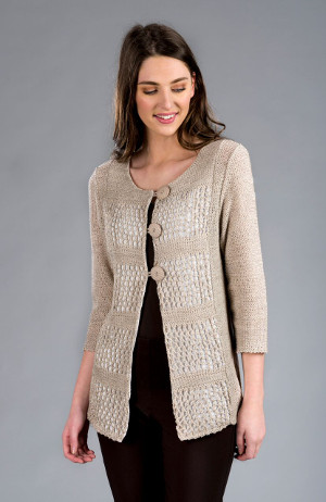 For All the Seasons: Tivoli 3-Button Linen Blend Cardigan - $98.00