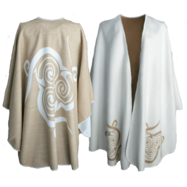 Jimmy Hourihan Molina Caramel and Cream Reversible Cape
