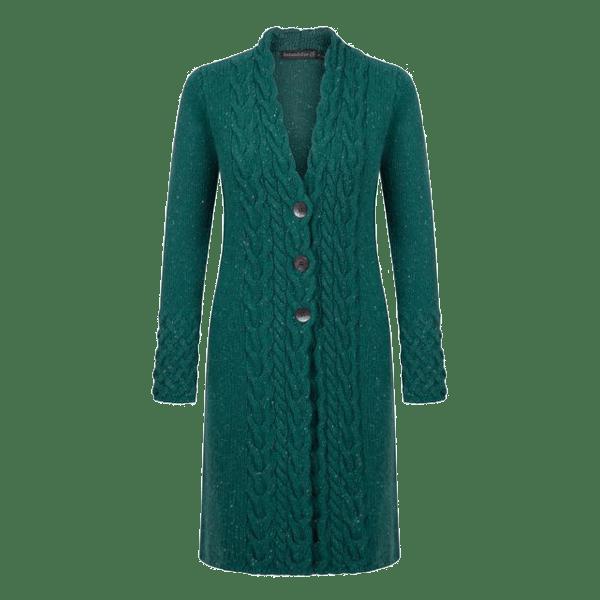 NEW ARRIVAL – IrelandsEye Horseshoe Cable Coat – Garden Green $195.00