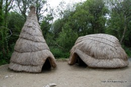 Reconstructed Mesolithic huts