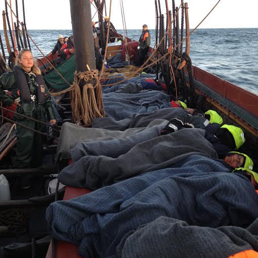Viking ship sleeping