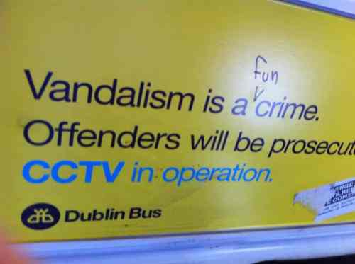 Vandalism Irish Memes