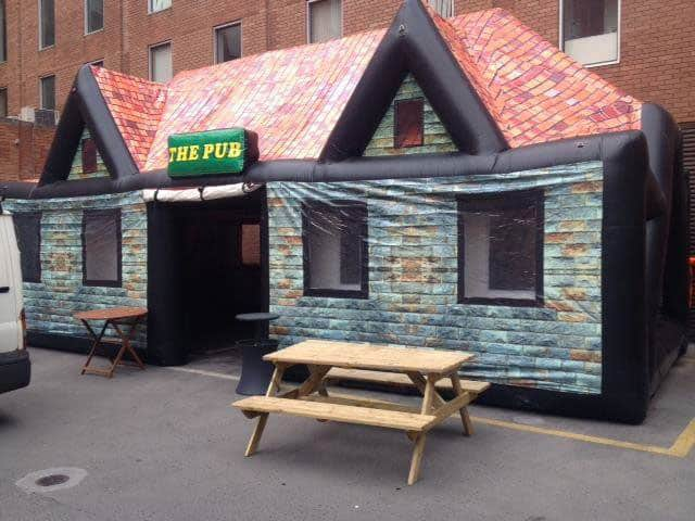 inflatable irish pub