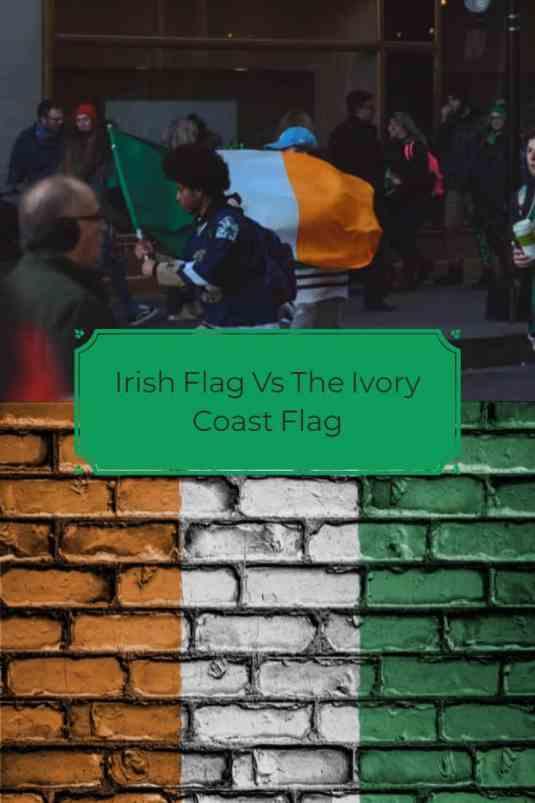 Irish flag vs the Ivory Coast flag Pin