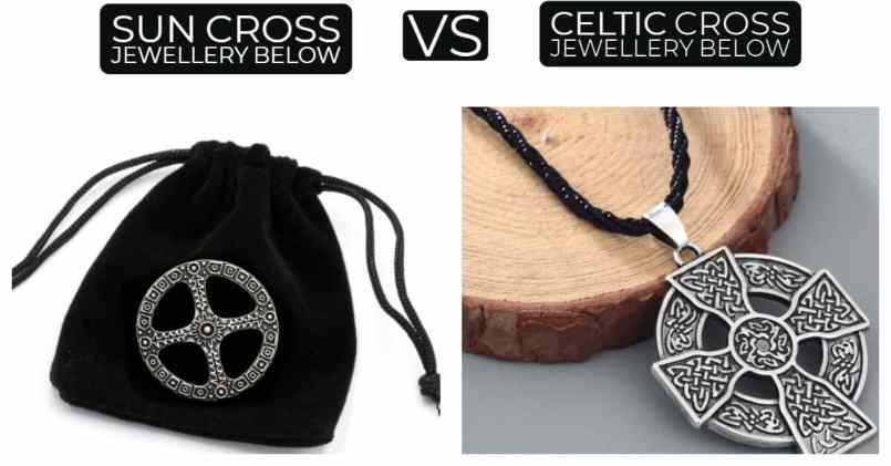 sun cross jewellery versus celtic cross jewellery
