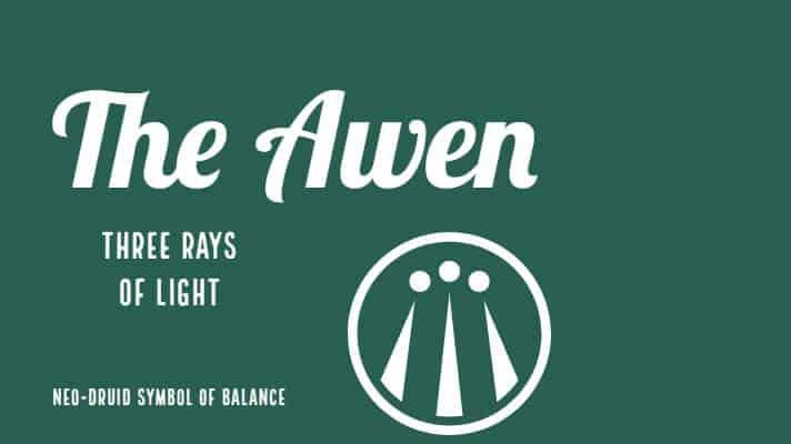 The Awen Celtic Symbol Of Light