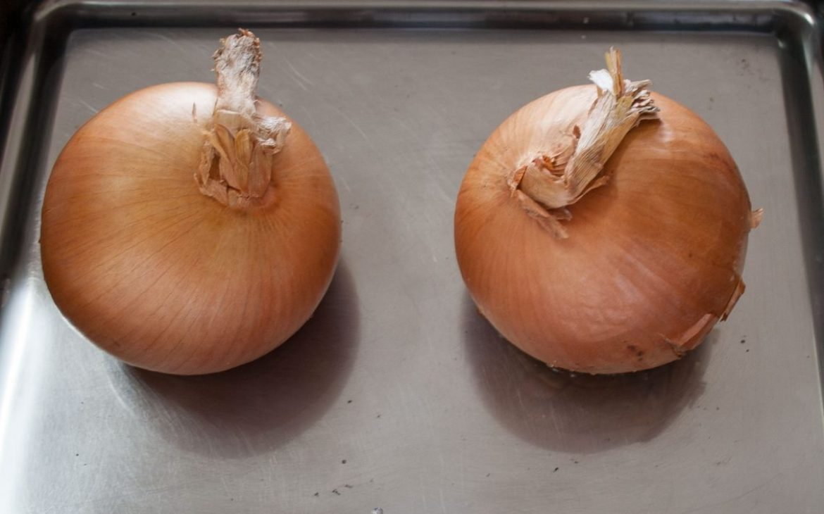 Two baked onions - Irish appetizers