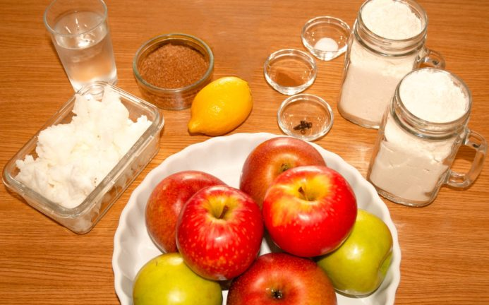 Ingredients for making Irish apple cake