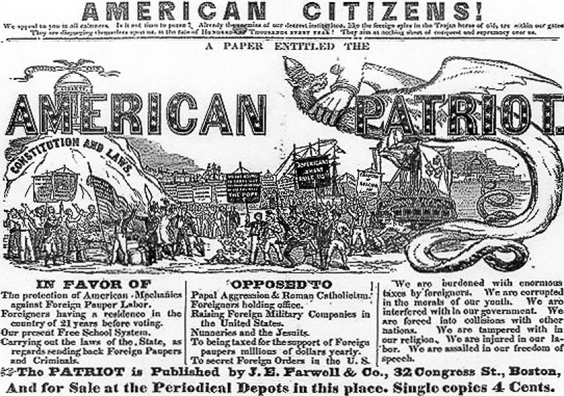 Best of Irish targeted by nativist propaganda in nineteenth century America