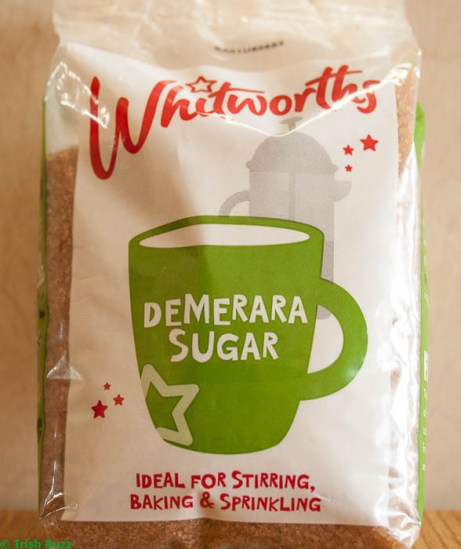 Demerara sugar for Irish apple cake