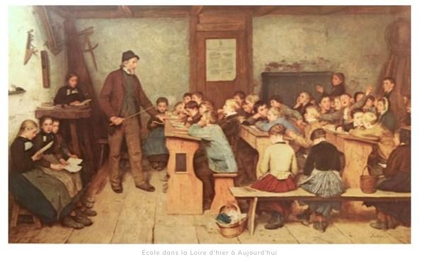 Une classe à l'école en Loire