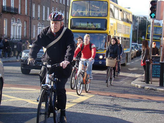 Cyclists in Dublin