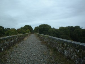The top of a viaduct on the route - images by EarthRoute Ltd