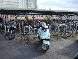 Bicycle parking at Heuston Station