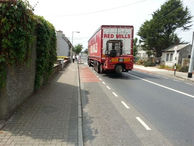 Nenagh, the only safe place for a cyclist is to ride defensively in the middle of the main carriageway