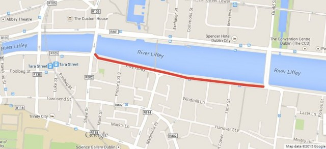 South quays cycle route