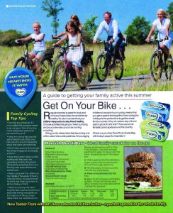 BANNED: Advert of family cycling on an off-road path, which is outside the RSA's remit