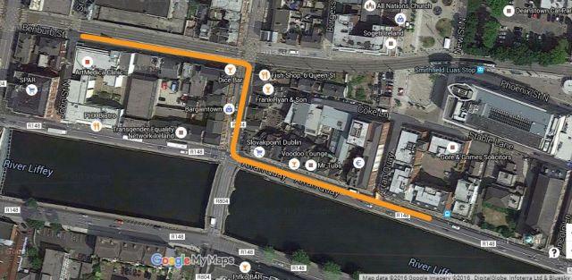 Bus detour return to quays