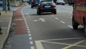 Narrow cycle lane